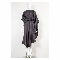 Rare vintage linen oversized COMME DES GARCONS  avantgarde toga dress by VintageKabinet on Etsy