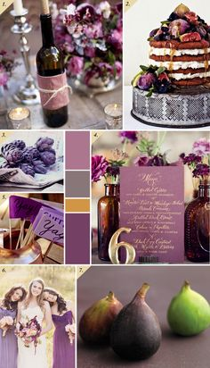 Plums and honey wedding inspiration board | Best Day Ever @Alison Lind