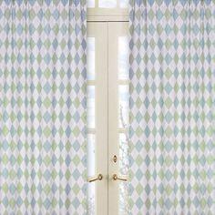 Sweet Jojo Designs Argyle Green Blue Cotton Curtain Panels & Reviews | Wayfair