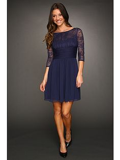 Max and Cleo Lace Sleeved Dress