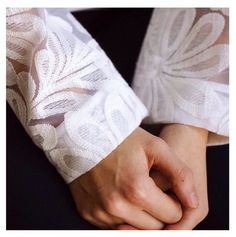Subtle play of transparency #annefontaine #leandra #white #organza #cotton #new #spring #summer #collection #flower #french #fashion #designer