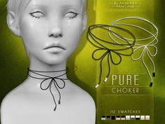 Accessories – Pure choker by Blahberry Pancake for The Sims 4 The Sims 4 Kids, Sims 4 Children, Sims 4 Toddler, Sims Baby, My Sims, Sims Cc, Chokers For Kids, Los Sims 4 Mods, Sims 4 Gameplay
