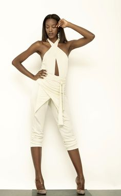 Wrap Jumpsuit by Carlton Jones. #fashion #mode #clothing #women