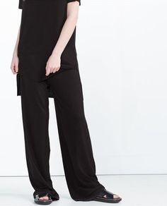 Image 1 of RIBBED TROUSERS from Zara