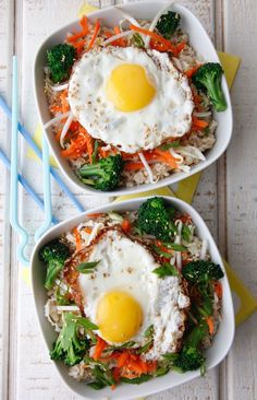 Asian Rice Bowls with Egg