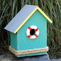 S.S. Birdsong Bird House - $74.95 Very cute -- I can purchase a plain, inexpensive  house & decorate it myself for easily half the cost!