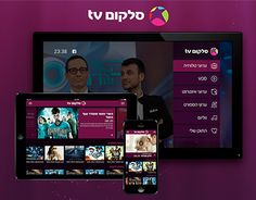 Designs of the new TV service cross platform interfaces: tv, smartphone, tablet, desktop