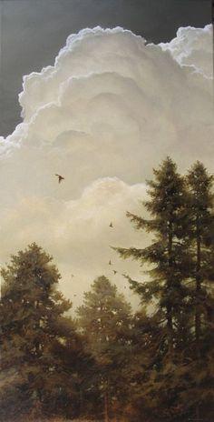 Migration 30 x 15 Oil on canvas by Renato Muccillo