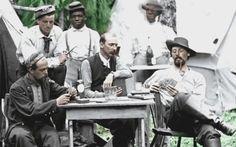 Taking a break between battles during the Civil War