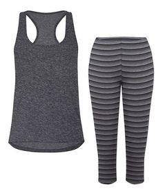 Look at this #zulilyfind! Heather Gray Tank & Capri Pants Pajama Set - Plus Too #zulilyfinds