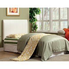 Furniture of America Neston Leatherette Headboard, Size: Full/Queen - IDF-7007WH-HB-FQ