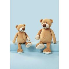 Teddy Bear Dangling, Made Of Cozy Flauschplüsch. Size Of The Bears: 27 Or 35 Cm. Color Of Teddy Bears: Golden Brown