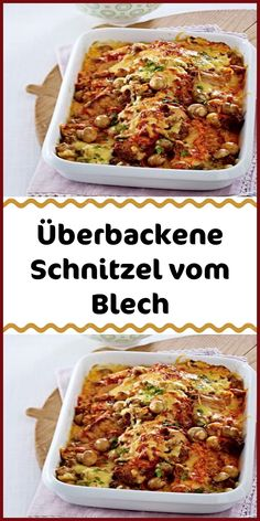 Ingredients 400 g mushrooms 2 onions 4 pork schnitzel (approx. 120 g each) salt 2 tbsp sunflower oil 300 g mixed minced meat pepper 100 g whipped cream 4 tbsp aiwar (spicy hot spice paste) 100 g Gouda Casserole Recipes, Meat Recipes, Chicken Recipes, Pork Schnitzel, Loaded Sweet Potato, Stuffed Mushrooms, Stuffed Peppers, Healthy Dinner Recipes, The Best