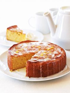 Try our lemon drizzle cake recipe. This easy lemon cake recipe is an easy round lemon drizzle cake recipe. Make our easy and moist lemon drizzle cake recipe Orange Drizzle Cake, Lemon Recipes, Sweet Recipes, Cake Recipes, Olive Recipes, Baking Recipes, Salty Cake, Cake Ingredients, Gastronomia