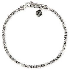 John Hardy Legends Naga Mini Bracelet ($265) ❤ liked on Polyvore featuring jewelry, bracelets, silver, lobster claw charms, john hardy bracelet, lobster clasp charms, charm bangle and pearl bangle