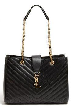 I want this in every colour!Saint Laurent  Cassandre - Lisse  Shopper  available 113702e2fda28