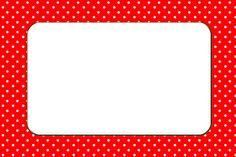 Imprimibles de lunares rojo y blanco.