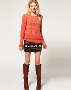 mini skirt + boots