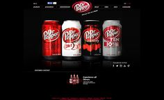 Dr Pepper.com monochrome