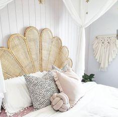 Bali Bedroom, Home Bedroom, Girls Bedroom, Bedroom Decor, Bedroom Ideas, Master Bedroom, Rattan Bed Frame, Rattan Headboard, Headboards For Beds