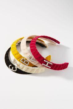 Lelet NY Monogram Crystal Headband   Anthropologie 台灣 Crystal Headband, Knot Headband, Headbands, Diy Hair Accessories, Of Brand, Lariat Necklace, Bracelet Set, Gift Guide, Alphabet