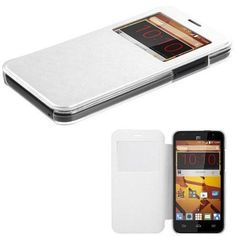 Book-Style ZTE Speed Case Hybrid View-Flip Cover - White