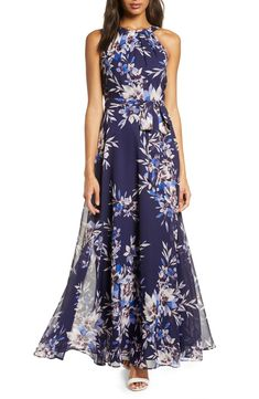 100+ Dresses Perfect for Wedding Guests | The Perfect Palette Cute Wedding Guest Dresses, Maxi Dress Wedding, Halter Maxi Dresses, Prom Dresses, Blue Dresses, Bridesmaid Dresses, Elegant Dresses, Pretty Dresses, Summer Mother Of The Bride Dresses
