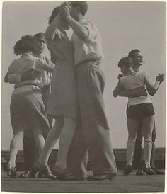 3 Couples Dancing on the Roof of the Bauhaus, c1929  T. Lux Feininger  (1910–2011)
