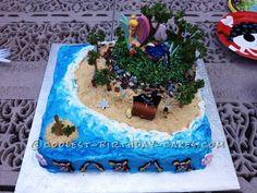 Enchanted Fairy Island Birthday Cake... This website is the Pinterest of birthday cake ideas