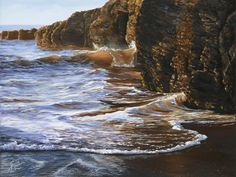 The Artwork of Susanne Leasure – California Seascapes Seascape Paintings, New Theme, Waves, California, Sky, Ocean Views, Explore, Artwork, Amber
