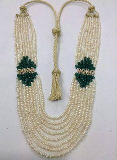 collier Royal Jewelry, Bead Jewellery, High Jewelry, Pearl Jewelry, Jewelry Art, Antique Jewelry, Gold Jewelry, Beaded Jewelry, Jewelery