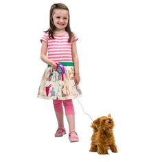The Poshi Pet Maltese walks, barks & wags her tail. Your child will have hours of enjoyment playing with the Poshi Pet Maltese.