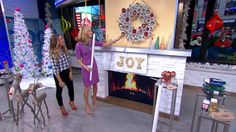 Holiday Decor Inspiration from Sabrina Soto - learn how to make log reindeer, a PVC pipe wreath, and your own custom marquee sign!