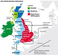 Britain's genetic history  (notice the Scots in light green) European History, British History, World History, Ancient History, Family History, Uk History, Family Lineage, Map Of Britain, Dna Genealogy