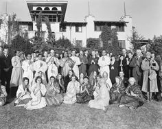 Yogananda and Devotees at Mount Washington, after he returned from India in 1936