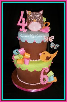 hippi chic birrtday cake by Cakes By Roselyn, via Flickr