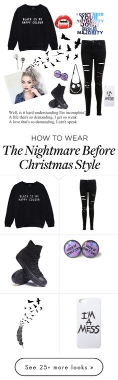 """""""Xelina Grace"""" by that-punk-cutie on Polyvore featuring Miss Selfridge, Converse…"""
