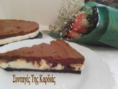 Cheesecake με σοκολάτα - Cheesecake with chocolate Greek Sweets, Cheesecake, Food And Drink, Chocolate, Pie, Cheese Pies, Schokolade, Cheesecakes, Chocolates