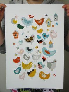 Descubriendo Etsy: Alegres láminas para decorar