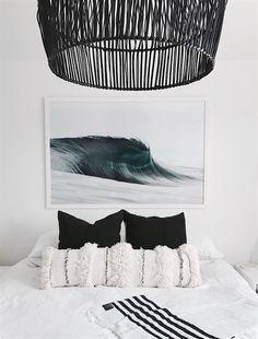 Gunn & Swain Driftwood blanket via Surf Bedroom, Bedroom Decor, Bedroom Ideas, Design Bedroom, Summer Bedroom, Bedroom Inspo, Girls Bedroom, Small Room Design, Bright Homes