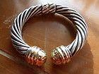 DAVID YURMAN 10mm Thoroughbred Hinged Bracelet 14kt gold ends