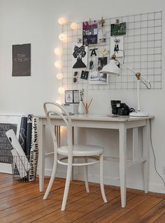 Work space art studio home decor, room decor, apartment deco Apartment Decorating On A Budget, Interior Decorating, Decorating Ideas, College Apartment Decorations, Apartment Ideas, Diy Casa, Home And Deco, My New Room, Office Decor