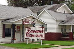 Lavern's Wedding Chapel, Miami Oklahoma.  On June 27, 2012 I married my best friend Julie there.