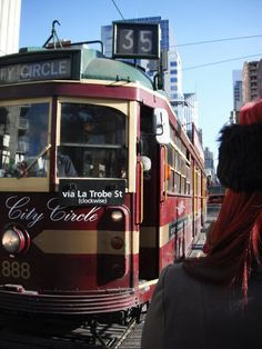 Ride the city circle for free! See all of inner city Melbourne via tram. Melbourne Tram, Places In Melbourne, Melbourne Australia, Australia Travel, Brisbane, Vic Australia, Melbourne Victoria, Victoria Australia, Mermaids Exist