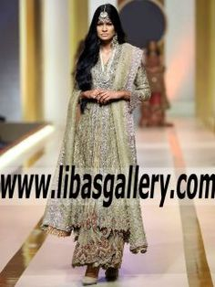 70fc8ab91a8 Absolute Best Eryngium Wedding Anarkali Style shirt features Fabulous Light  Embellishments for Valima and Reception-