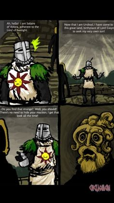 Will this make you laugh? Dark souls comic