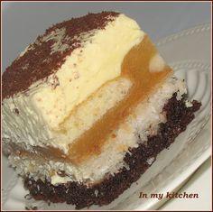 In my kitchen: Nut kokosanka with apples Polish Desserts, Polish Recipes, No Bake Desserts, Sweet Recipes, Cake Recipes, Sweets Cake, Cakes And More, No Bake Cake, Sweet Tooth