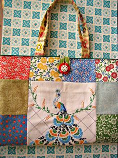 Sweet Vintage Patchwork Embroidery Purse. $30.00, via Etsy.