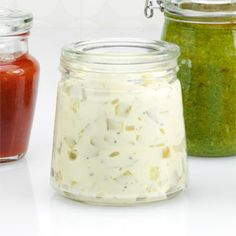 2/3 cup chopped dill pickles  1/2 cup mayonnaise  3 tablespoons finely chopped onion  Dash pepper