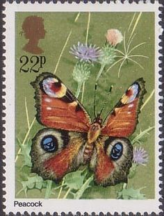 Butterflies 22p Stamp (1981) Inachis io